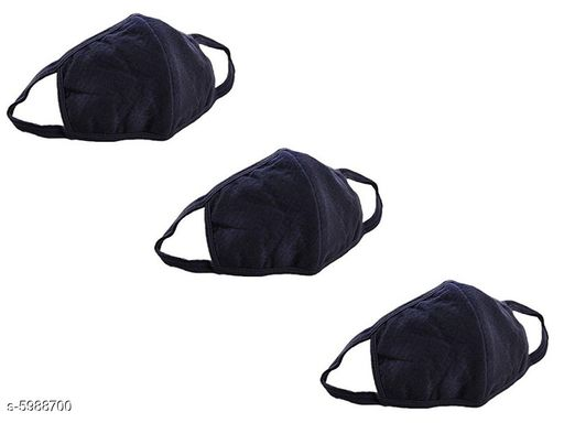 Anti Pollution Face Mask To Protect against Coronavirus Air Pollution  (Black, Pack of 3)