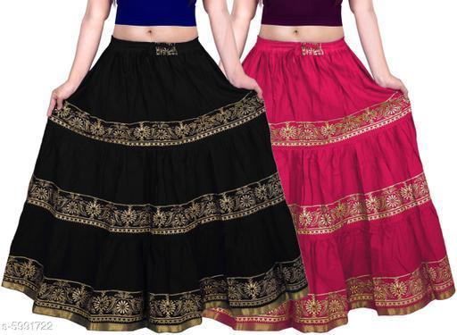 Trendy Stylish Cotton Printed Skirts