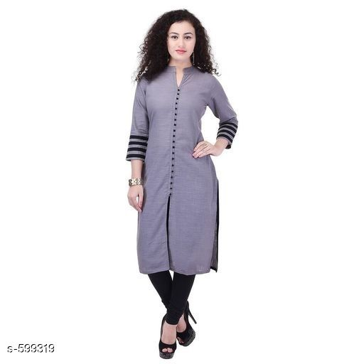 Kurtis & Kurtas Stylish Festive & Party wear Kurti  *Fabric* Kurti - Cotton  *Sleeves* Sleeves Are Included  *Size* S - 36 in, M - 38 in, L- 40 in, XL - 42 in, XXL - 44 in, XXXL - 46 in  *Length* Up To 44 in  *Type* Stitched  *Description* It Has 1 Piece Of Kurti  *Work* Printed  *Sizes Available* S, M, L, XL, XXL, XXXL   Catalog Rating: ★4 (94) Supplier Rating: ★4.2 (13687) SKU: AYN244-GRB Shipping charges: Rs1 (Non-refundable) Pkt. Weight Range: 300  Catalog Name: Blue Printed Kurtis - Sale Mantra Code: 593-599319--705