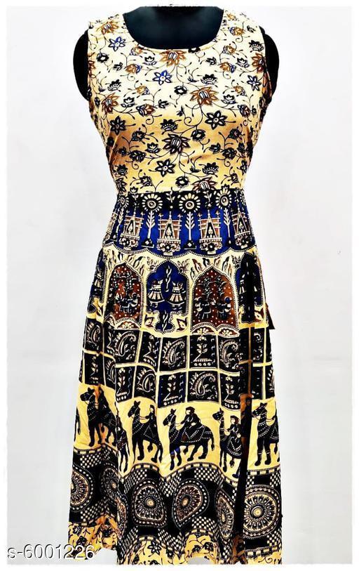 Stylish Cotton Midi Gown
