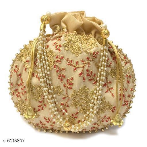 Ethnic Women's Golden Potlis
