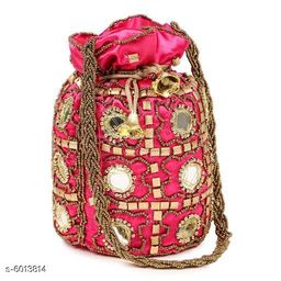 Attractive Women's Multicolor Polyester Pouches