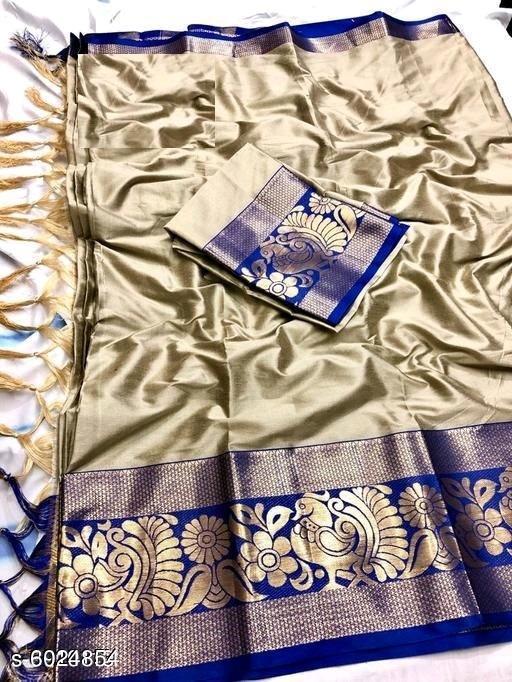 Sarees Trendy Women's Art Silk Sarees  *Saree Fabric* Art Silk  *Blouse* Running Blouse  *Blouse Fabric* Art Silk  *Pattern* Woven Design  *Blouse Pattern* Same as Saree  *Multipack* Single  *Sizes*   *Free Size (Saree Length Size* 5.5 m, Blouse Length Size  *Sizes Available* Free Size *    Catalog Name: Trendy Women's Art Silk Sarees CatalogID_913893 Code: 446-6024854-