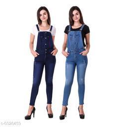 Trendy Women's Denim Dungree