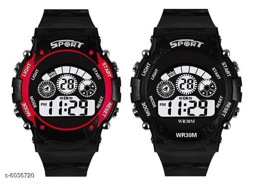 Elite Trendy Kid's Digital Watches Combo (Pack Of 2)