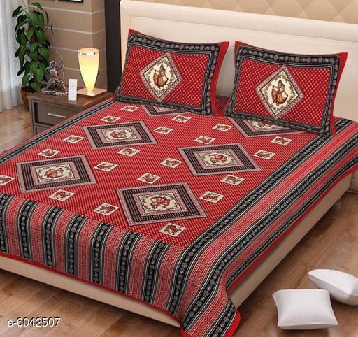 Sana Modern Pure Cotton 95 X 85 Double Bedsheets