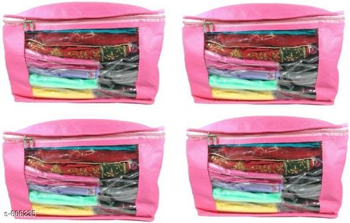 Large Non Woven Saree Cover (Pack Of 4)