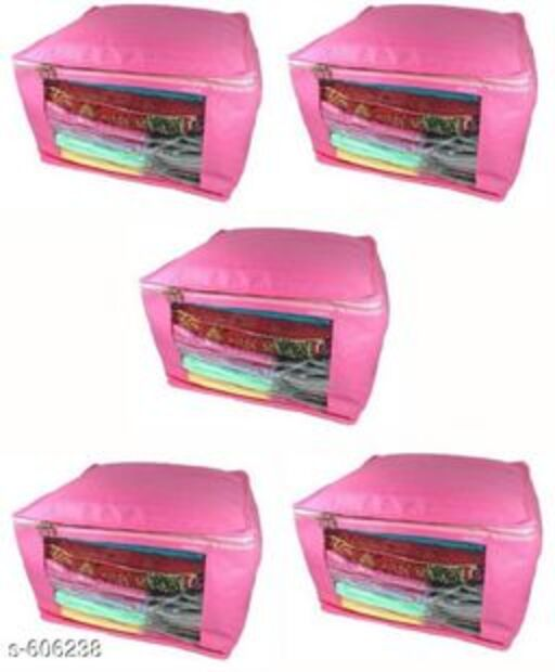 Large Non Woven Saree Cover (Pack Of 5)