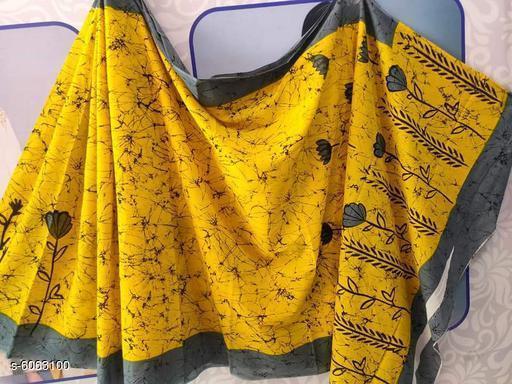 Stylish Cotton Mulmul Women's Saree