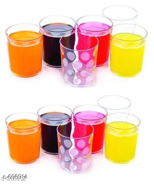 Glassware & Drinkware Small Glasses (Pack Of 12)  *Material* Plastic  *Description* It Has 12 Pieces Of Small Glasses  *Sizes Available* Free Size *   Catalog Rating: ★4 (123)  Catalog Name: Free Gift Finelure Basic Kitchen Utilities Vol 4 CatalogID_67849 C136-SC1603 Code: 834-606914-