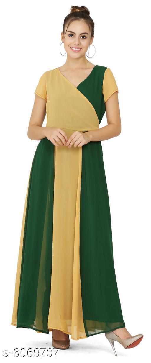 Women's Printed Light Multicolour Georgette Dress