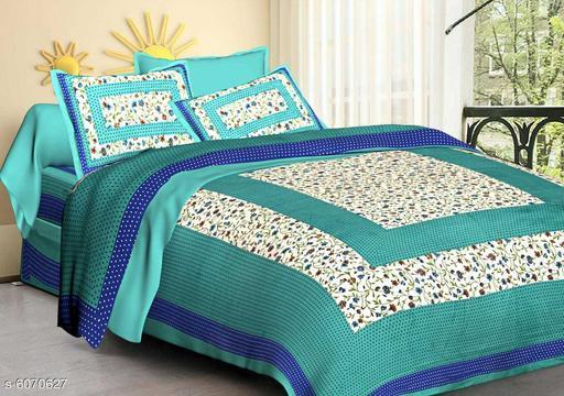 Pure Cotton 100 x 90 Queen Double BedSheet
