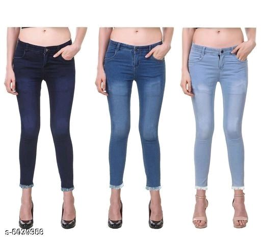 Trendy Women's Jeans (Pack Of 3)