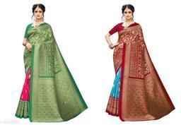 ART silk saree with blouse Combo
