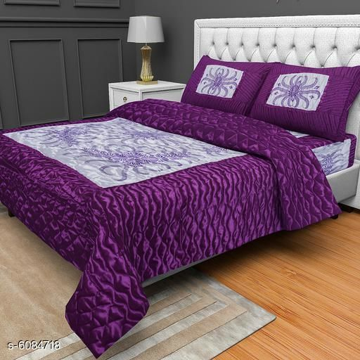Stylish Satin 86 X 86 Double Queen Bedsheet
