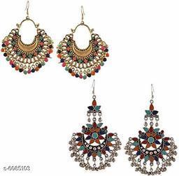 Antique Oxidized Women Earrings