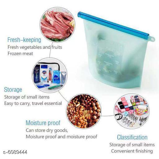 Trendy Reusable Silicon Food Storage Bag