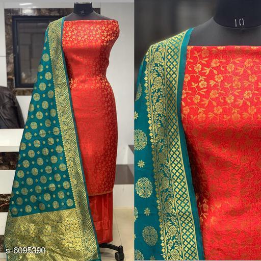 Attractive Banarasi Jacquard Nylon Suits And Dress Matereials