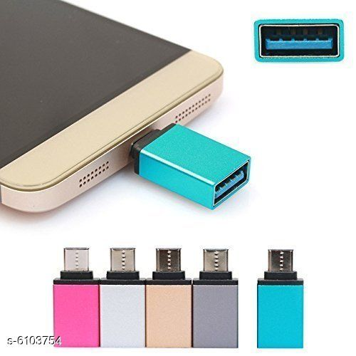 KSJ Type C to USB 3.0 OTG Adaptor for Android Smartphones (Assorted Colors)