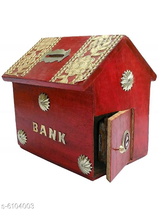 Wooden Coin Bank
