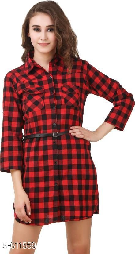 Shirts Stylish Cotton Tunic  *Fabric* Cotton  *Sleeves* Sleeves Are Included  *Size* S- 36 in, M- 38 in, L- 40 in  *Length* Up To 32 in  *Type* Stitched  *Description* It Has 1 Piece Of Women's Tunic  *Pattern* Checkered  *Sizes Available* S, M, L, XL, XXL *   Catalog Rating: ★4 (131)  Catalog Name: Free Mask Trendyfrog Cecilia Sassy Cotton Shirts Vol 2 CatalogID_68485 C79-SC1022 Code: 743-611559-
