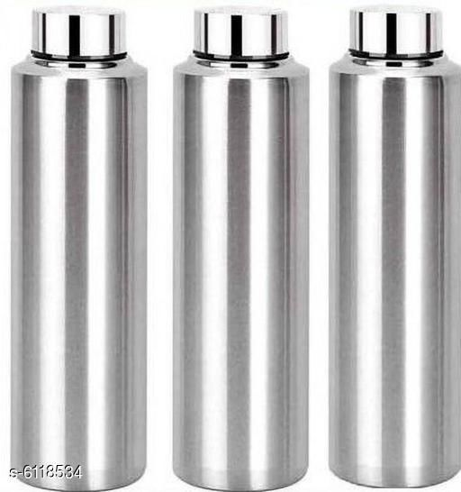 Water Bottles Designer Stainless Steel Water Bottles Material: Stainless Steel Pack: Pack of 3 Size: Free Size Country of Origin: India Sizes Available: Free Size *Proof of Safe Delivery! Click to know on Safety Standards of Delivery Partners- https://ltl.sh/y_nZrAV3  Catalog Rating: ★4 (482)  Catalog Name: Designer Stainless Steel Water Bottles CatalogID_931197 C130-SC1644 Code: 565-6118534-