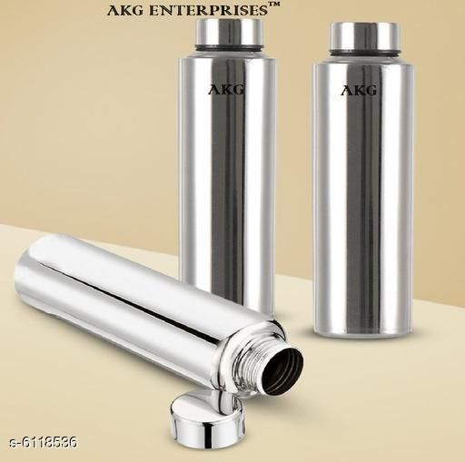Water Bottles Designer Stainless Steel Water Bottles Material: Stainless Steel Pack: Pack of 3 Size: Free Size Country of Origin: India Sizes Available: Free Size *Proof of Safe Delivery! Click to know on Safety Standards of Delivery Partners- https://ltl.sh/y_nZrAV3  Catalog Rating: ★4 (482)  Catalog Name: Designer Stainless Steel Water Bottles CatalogID_931197 C130-SC1644 Code: 825-6118536-