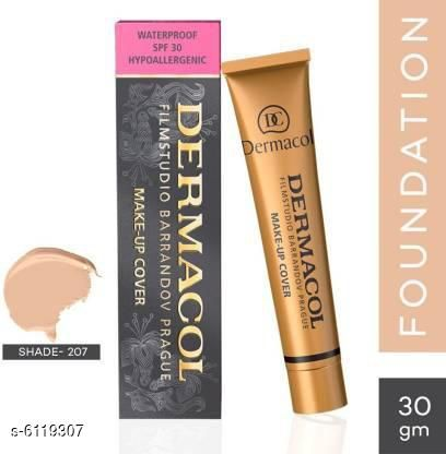 Dermacol Waterproof SPF 30 Make-up Cover Foundation light Foundation (207, 30 g) with combo brush