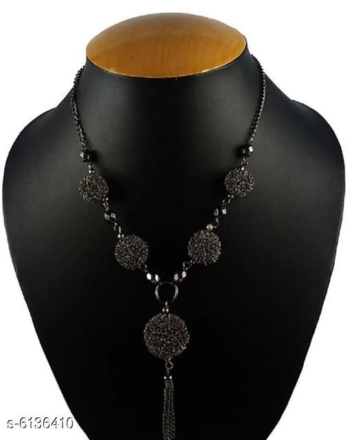 Stylish PVC Alloy Necklace And Earring
