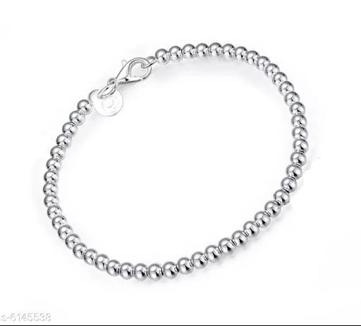 Nilu's Collection Metal Sterling Silver Charm Bracelet ()
