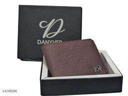 Trendy Men's Maroon Leather Wallet