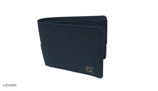 Trendy Men's Navy Blue Wallet