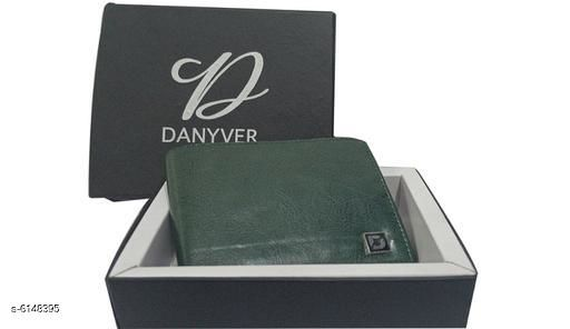 Trendy Men's Green Leather Wallet