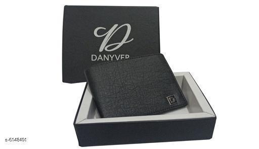 Trendy Men's Black Leather Wallet