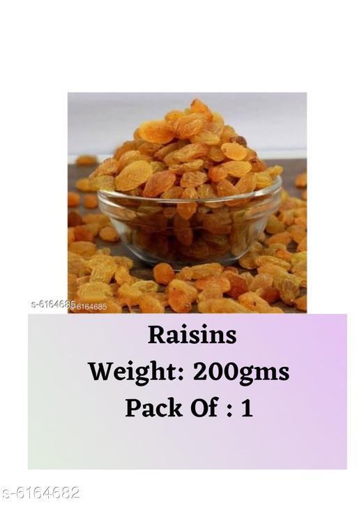 Dry Fruits Raisins  (200g) Raisins  *Sizes Available* Free Size *   Catalog Rating: ★3.8 (23)  Catalog Name: Raisins CatalogID_940049 C89-SC1738 Code: 791-6164682-