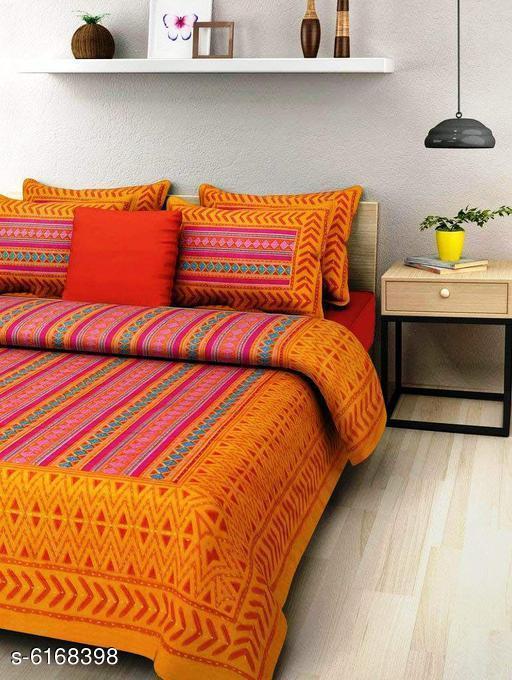 Trendy Cotton 90 x 100  Double Bedsheet