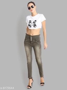 women high Rise Skinny Denim Jeans