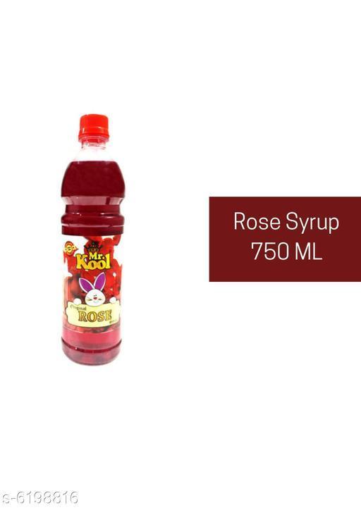 Tea & Coffee Rose Syrup 750Ml  Rose Syrup 750Ml  *Sizes Available* Free Size *    Catalog Name: SYRUP SHARBAT JUICE CatalogID_950466 C89-SC1739 Code: 455-6198816-