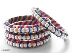 Sizzling Colorful Silk Thread Work Bangles