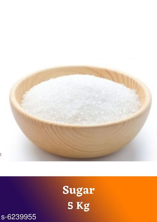 Sugar Premium Sugar 5 kg   *Product Type* Sugar  *Capacity* 5 kg  *Pack* Pack of 1  *Sizes Available* Free Size *    Catalog Name: Premium Sugar 5 kg CatalogID_985620 C89-SC1773 Code: 293-6239955-