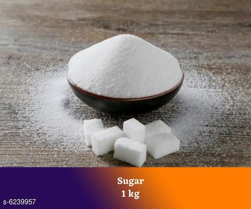 Sugar Premium Sugar 1 kg  *Product Type* Sugar  *Capacity* 1 kg  *Pack* Pack of 1  *Sizes Available* Free Size *    Catalog Name: Premium Sugar 1 kg CatalogID_985622 C89-SC1773 Code: 533-6239957-