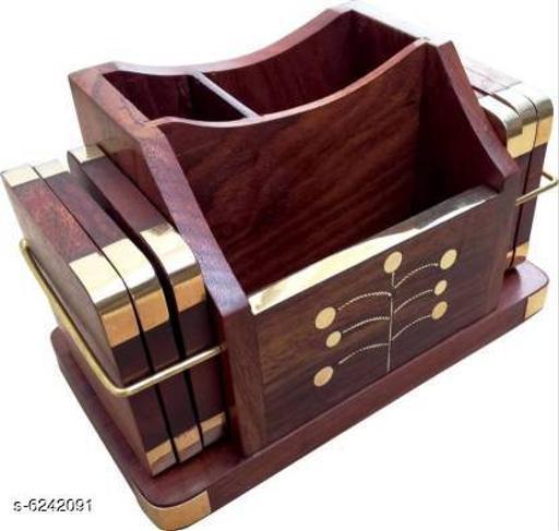 Stylish Wooden Wooden Tea Coaster