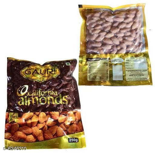 Dry Fruits Best Quality Daily Needs Almonds  *Product Name * Best Quality Daily Needs Almond  *Capacity* 250 Gm Each  *Multipack* Pack Of 2  *Sizes Available* Free Size *    Catalog Name: Best Quality Daily Needs Almonds CatalogID_987054 C89-SC1738 Code: 615-6246310-