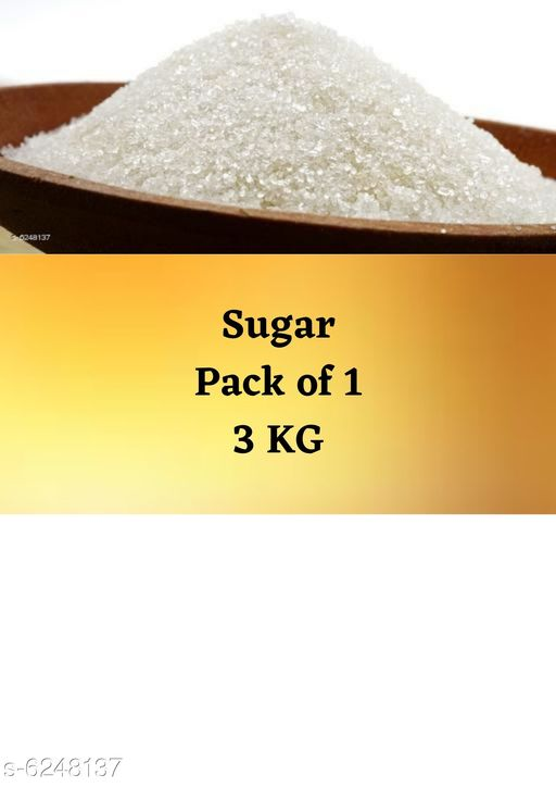 Sugar Premium Sugar 3 kg   *Product Type* Sugar  *Capacity* 3 kg  *Pack* Pack of 1  *Sizes Available* Free Size *    Catalog Name: Premium Sugar 3 kg CatalogID_987456 C89-SC1773 Code: 612-6248137-
