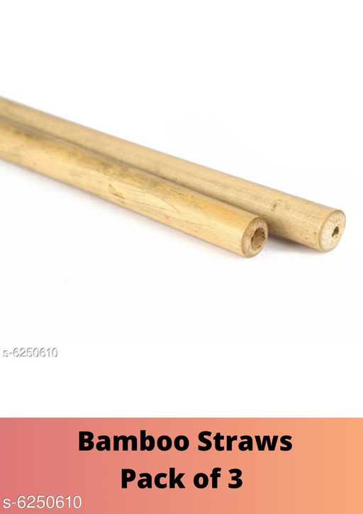 Disposable Kitchenware  Bamboo Straws Pack of 3  *Product Name* Bamboo Straws  *Type* Straws  *Material* Wooden  *Multipack* Pack of 3  *Sizes Available* Free Size *    Catalog Name: Stylish Drinking Straws CatalogID_988134 C89-SC1765 Code: 632-6250610-