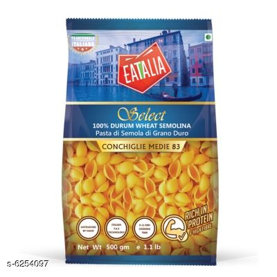 Noodles, Pasta & Ketchup Premium Pasta  *Product Name* Premium Pasta  *Type* Pasta  *Capacity* 500 gm  *Multipack* Pack of 1  *Sizes Available* Free Size *    Catalog Name: Premium Pasta CatalogID_989026 C89-SC1740 Code: 783-6254097-