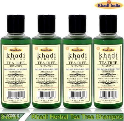 Hair Care Khadi Herbal Tea Tree Shampoo/Hair Cleanser For Nourished & Healthy Hair (Pack Of-4) Men & Women (840 ml)  *Product Name* Khadi Herbal Tea Tree Shampoo/Hair Cleanser For Nourished & Healthy Hair (Pack Of-4) Men & Women (840 ml)  *Product Type* Shampoo  *Brand Name* Khadi Herbal  *Flavour* Onion  *Capacity* 840 ml  *Multipack* Pack Of 4  *Sizes Available* Free Size *    Catalog Name:  Advanced Intensive Shampoo CatalogID_989408 C50-SC1249 Code: 053-6255181-