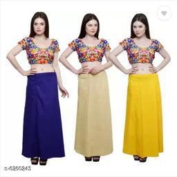 Trendy Cotton Inskirt Saree Petticoats