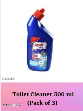 Cleaners & disinfectants Hygiene Toilet Cleaner  *Product Name* Toilet Cleaner  *Type* Toilet Cleaner  *Capacity* 500 ml  *Multipack* 3  *Sizes Available* Free Size *    Catalog Name: Hygiene Toilet Cleaner CatalogID_990829 C141-SC1711 Code: 883-6260314-