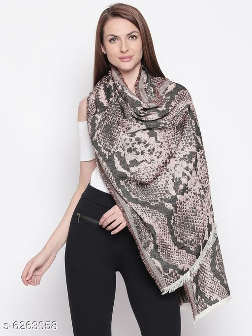 Style Quotient Womens Pink/Black Shawl